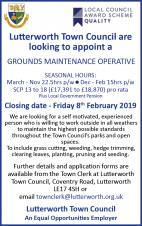 VACANCY for a Grounds Maintenance Operative