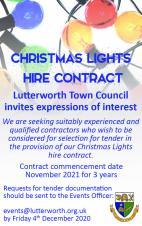 Christmas Lights Hire Contract