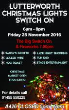 Christmas Lights Switch-On - Friday 25 November 2016