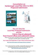 HARBOROUGH DISTRICT COUNCIL - Consultation on the Local Plan 2011 - 2031